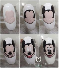 Trendy Nails Design For Kids Mickey Mouse Mickey Mouse Nail Design, Mickey Mouse Nail Art, Mickey Nails, Minnie Mouse Nails, Trendy Nail Art, Cool Nail Art, Swag Nails, Fun Nails, Super Nails