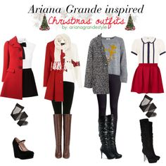 Ariana Grande Inspired Christmas Outfits by arianagrandestyle (dresslikearianaa on polyvore)