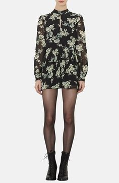 72d30eaf43f Topshop Floral Print Long Sleeve Romper available at  Nordstrom Cc Fashion