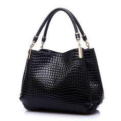 Alligator Leather Women Handbag Bolsas De Couro Fashion Famous Brands Shoulder Bag Black Bag Ladies Bolsas Femininas Sac