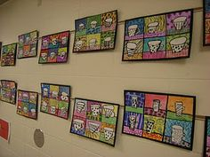 Pop art Coffee Cups...this would be an interesting printmaking project...amp it up a bit for h.s.