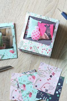 projet-diy-11-imprimés-fleuris Paper Picture Frames, Polaroid Picture Frame, Polaroid Pictures, Fujifilm Instax Mini, Album Photos, Idee Diy, Diy Paper, Best Part Of Me, Wedding Planning