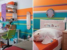 Um quarto para dois irmãos http://www.minhacasaminhacara.com.br/decorando-o-quarto-de-dois-irmaos/