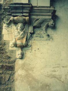 Pontigny Abbey - architectural detail - France dated from 1114 Romanesque Architecture, Architecture Details, Built Environment, 12th Century, Art Photography, Lion Sculpture, France, Statue, History