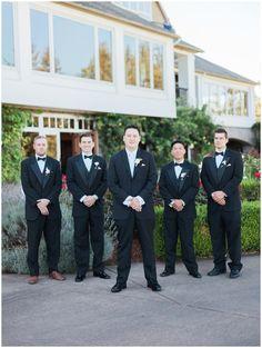 West Linn Oregon Golf Club Wedding Party Bridesmaids Groomsmen
