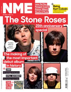 NME magazine cover, The Stone Roses, April 2014 The Rock, Rock And Roll, Nme Magazine, Magazine Covers, 1989 Music, J Mascis, Sleaford Mods, Primal Scream, Harsh Words