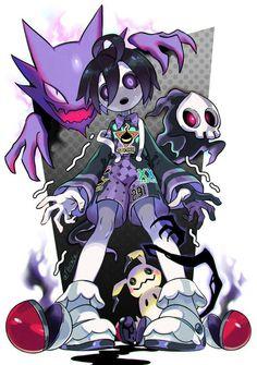 This is my roll modle Pokemon Comics, Pokemon Fan Art, Ghost Type Pokemon, Mega Pokemon, Pokemon Images, Pokemon Pictures, Anime Kunst, Anime Art, Manga Anime