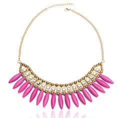 Sale 10% (2.59$) - Bohemia Crystal Pendant Charm Choker Necklace