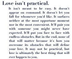 Love isint practical