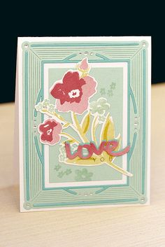 Love You Card by Erin Lincoln for Papertrey Ink (December 2015)