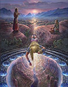 The Vision Pool - visionary painting by John Stephens