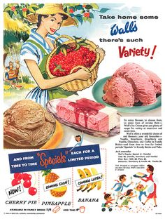 1954 Wall's Ice Cream ad  ...Please save this pin.  Because for vintage collectibles - Click on the following link!.. http://www.ebay.com/usr/prestige_online