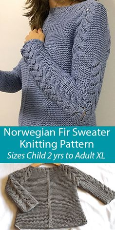 Knitting Pattern for Norwegian Fir Sweater Sizes Child 2 yrs to Adult XL Outlander Knitting Patterns, Loom Knitting, Knitting Patterns Free, Knit Patterns, Baby Sweater Knitting Pattern, Baby Knitting, Knitting For Beginners, Knitting Designs, Knit Crochet