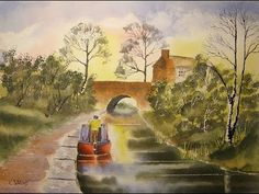 How To Paint Watercolours With Colin Walters...CANAL SCENE - YouTube