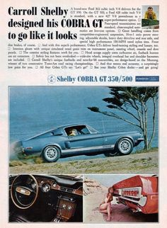 Shelby Mustang GT 350/500 ad
