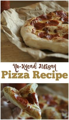 our new favorite crust recipe-- the search is OVER! No knead artisan pizza crust recipe.