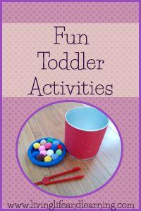 Fun toddler activities #homeschool