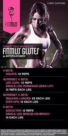 FitMiss Glutes Workout of the Day