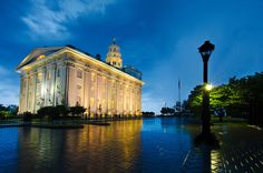 Jim Harmer photo of Nauvoo temple and reflection