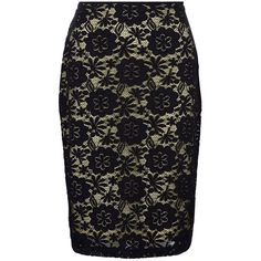 Precis Petite Lace Skirt , Navy/Lemon ($27) ❤ liked on Polyvore featuring skirts, petite, navy lace skirt, pencil skirt, floral print pencil skirt, floral skirt and stretch skirt