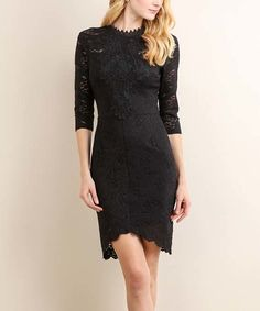 Look what I found on #zulily! Black Paisley Lace Hi-Low Dress #zulilyfinds