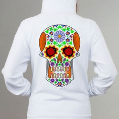 Celebrate Mexican traditional 'Day of the Dead' with our colorful skull. Yours at https://www.redbubble.com/people/tudi/works/28499760-calavera