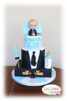 The Boss Baby cake - cake by Sara Solimes Party solutions Baby Birthday Themes, Boss Birthday, Baby Birthday Cakes, Boy Birthday Parties, Baby Cakes, Baby Shower Cakes, Baby Boy Shower, Boss Baby, Disney Cakes