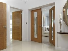 Over 200 timber and wooden doors designed to suit all budgets, find the perfect wood internal doors or external door designs from JB Kind's Door Collection. Exterior Entry Doors, Oak Interior Doors, Oak Doors, Home Interior, Double Doors Interior, Rustic Exterior, French Interior, Entrance Doors, Interior Design