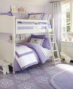 The perfect girls bedroom! By Pottery Barn.