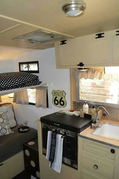 Black and yellow vintage trailer
