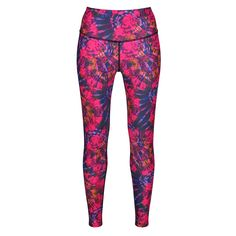 Add Some Colour Mania To Your Workout Wardrobe With Tikiboo's Delirium Full-length Gym Pants. Bursting With Fuchsia Pink, Purple And Orange On A Dark Base, This Tie-Dye Print Is Bold And Impactful. Gym Pants, Gym Leggings, Workout Leggings, Workout Pants, Tie Dye, Pajama Pants, Legs, Pink Purple, Base