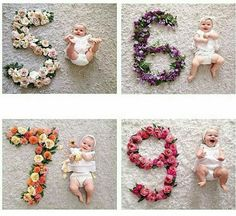 #baby #mesversario #flores