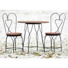 Ice Cream Parlor, Bistro, Pub, General Store Table and Chairs Set -... ($295) ❤ liked on Polyvore