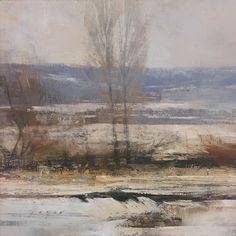 'Fence Line on a Winter's Field', by Douglas Fryer.