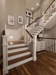 Painted wooden stairs ideas 20 ideas for 2019 House Stairs Ideas Painted Stairs wooden Painting Wooden Stairs, Painted Stairs, U Stairs Design, Wooden Staircase Design, Square Newel Post, Traditional Staircase, Wooden Staircases, Stairways, Timber Staircase