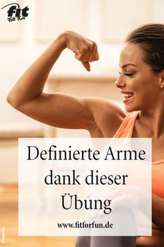 Tschüss Winke-Arme! Diese Übung sorgt für schön definierte Arme. #Workout #Fitness #Arme #Winkearme #noGym