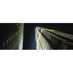 Low Angle View Of A Tower Jin Mao Tower Pudong Shanghai China Canvas Art - Panoramic Images (36 x 13)