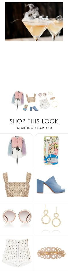 """""""the eleventh door"""" by wehatehannah ❤ liked on Polyvore featuring Sandy Liang, Alice + Olivia, Oscar de la Renta, Robert Clergerie, Chloé, Ippolita, Balmain, France Luxe and Jennifer Meyer Jewelry"""
