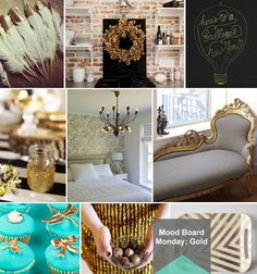 Mood Board Monday: Gold (http://blog.hgtv.com/design/2013/01/07/mood-board-monday-gold/?soc=pinterest)