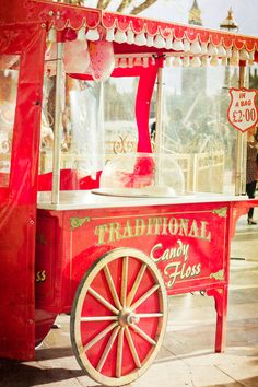 would loove a candy floss cart! (even just a machine <3 )