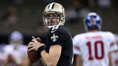 Drew Brees of New Orleans Saints ties NFL mark with 7 TDs; Eli Manning of New York Giants top 10 all-time in TDs