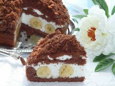 Čokoládový krtko s banánmi a tvarohovým krémom
