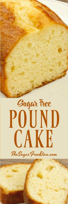 Make a great dessert cake that everyone can agree on. This is the best tasting recipe for How to Make Sugar Free Pound Cake. Diabetic Desserts, Low Carb Desserts, Diabetic Recipes, Healthy Desserts, Diabetic Foods, Diabetic Cake, Pre Diabetic, Diabetic Living, Healthy Breakfasts