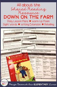 Shared Reading: Down on the Farm - Our Elementary Lives