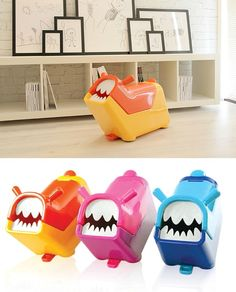Cute toy storage bin for kids that also acts as a ride-on or pull-toy | Roomii