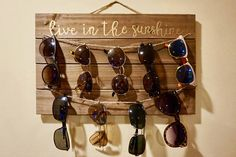 Rustic Sunglass Holder/Wall Display- Two Tier Gift Shop Displays, Store Displays, Rustic Chic, Rustic Decor, Gift Shop Interiors, Wall Decoration Images, Artwork For Home, Room Ideas, Decor Ideas