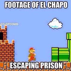 Footage of El Chapo escaping prison