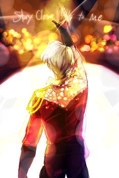 """willartforlovegems: """"Stay Close to Me, Yuuri. """""""