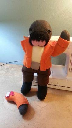 Poor little Ponda Baba, he's had a bad day. #starwars #handmade #walrusman #ouch #plush