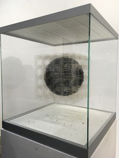 Art Basel HK: Vitrines by Claire Morgan at Karsten Greve contained sculptures composed of dead flies, dandelion florets, and occasionally a dead bird.